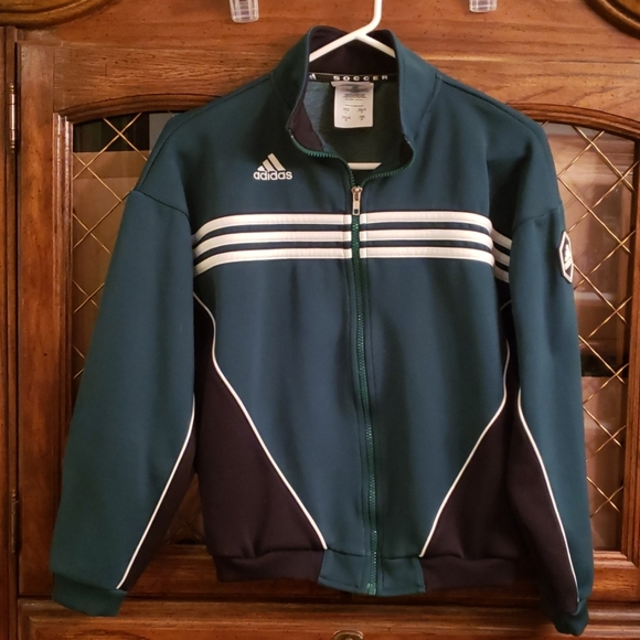 adidas Other - Green Adidas Youth Large Soccer Jacket